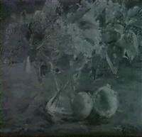 stilleben mit flieder und fruchten by richard otto voigt