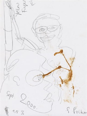 yellow finger ii by sigmar polke