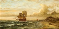marine painting by antoine exner