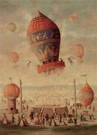 fête de ballons chateau de la muette by victor philippe francois lemoine-benoit