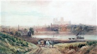 durham cathedral from the river by henry (sr.) earp