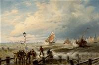 stormy sea by friedrich wilhelm fabarius