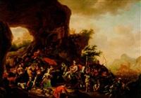 abigael frambärande skänker till kung david by adriaen verdoel