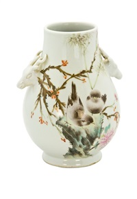 deer-head handled vase by deng xiaoyu