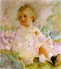 portrait eines kleinen mädchens im freien by paul rosner