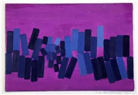 blue oblongs on purple 2 by wilhelmina barns-graham