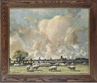 tending the flock, damme near bruges by tom campbell