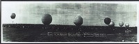 start of the national balloon race, san antonio, texas, 4/23/24 by eugene omar goldbeck