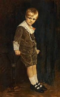en lille dreng i sondagstojet by theodor lauxmann