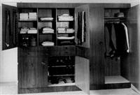 frontalansicht eines kleiderschranks, atelier lilly reich by paul schulz