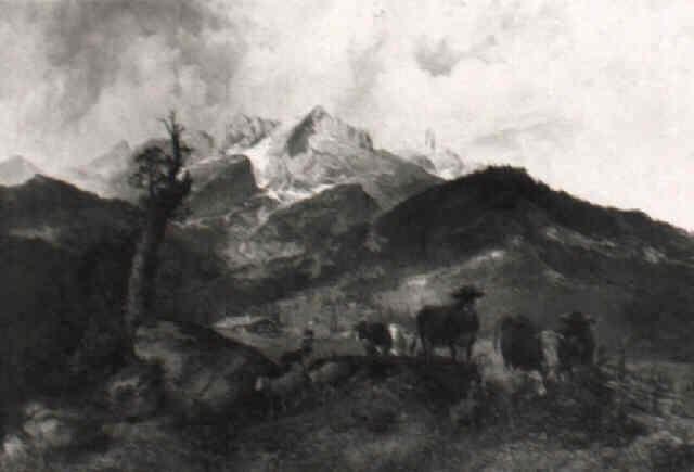alm unterhalb der alpspitze by michael sachs