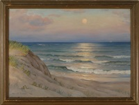 coastal dune scene at sunrise by harold c. dunbar
