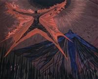 tapisserie moderne figurant daedalus et icare by liliane badin