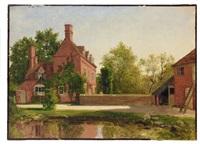 blick auf malerisches herrenhaus im sonnigen licht by georg eduard otto saal