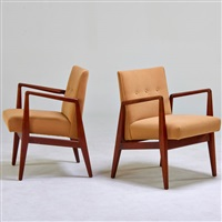 pair of armchairs by jens risom
