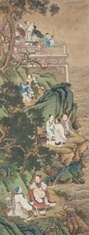八仙贺寿图 by leng mei