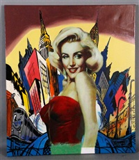hot marilyn livin in a comic world ii by steve kaufman