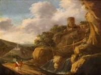 romantiske landskaber med ruiner (pair) by tobias verhaecht