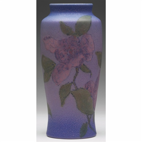 vase with magnolia design by william e hentschel