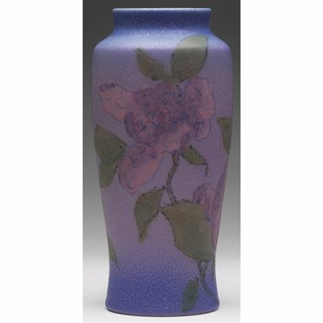vase with magnolia design by william e hentschel
