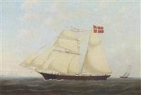 skibsportræt af laurits af karrebeksminde fört af capt.n. p.o. mortensen by heinrich reimers