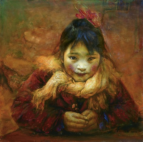 small girl by liu derun