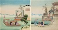 晚清 中国出口装饰画 设色纸本 by anonymous-chinese (qing dynasty)