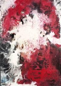 komposition in rot, schwarz und weiß mit dezenten blaunuancen by fred thieler