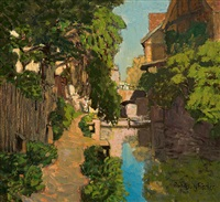village stream by rudolf georg fischer
