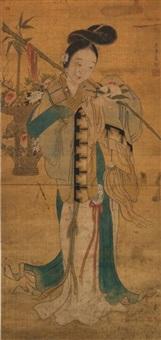 麻姑献寿图 by jiao bingzhen