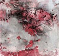 komposition in rot, schwarz und weiß by fred thieler