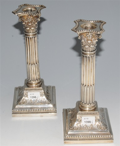 kerzenstöcke pair by deakin james and sons