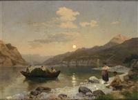 norwegische fjordlandschaft im mittsommer by georg eduard otto saal