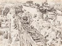 obras del ferrocarril en la calle balmes de barcelona by francisco gimeno arasa