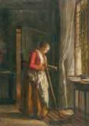 jeaune servante à la lecture by armand hubert simon leleux