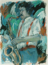 the saxophone player by annemarie de groot