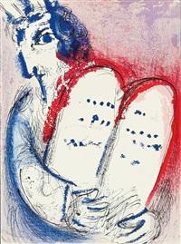 moise (moses). bl. aus la bible, verve 33/34 by marc chagall