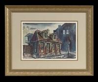 lafitte's blacksmith shop by rolland harve golden