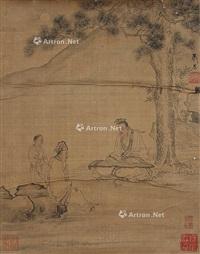 人物 镜心 设色绢本 by xiao chen