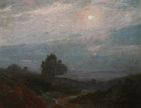 moonlit nocturne above hudson by bayard henry tyler