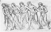 tanzende junge frauen by adolf von hildebrand