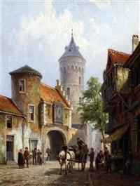 old butterhall, brussels, belgium by pieter cornelis dommersen