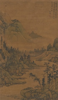 草亭秋色图 (thatched house in autumn mountain) by shen zhou