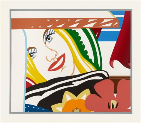 bedroom face #41 (from bedroom painting) by tom wesselmann