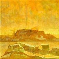 city mirage mojave desert by leonard rosoman
