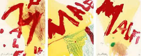 malfi triptych by julian schnabel