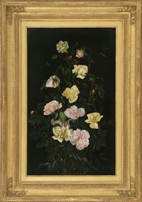 still life of roses by george cochran lambdin
