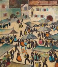marktplatz in tirol by herbert gurschner