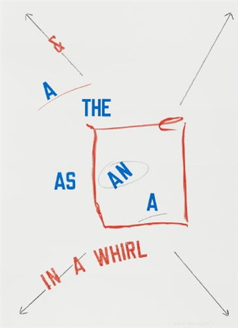in a whirl by lawrence weiner