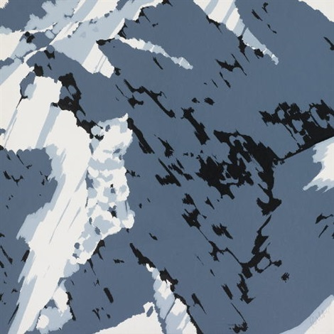 schweizer alpen a1 (from schweizer alpen i) by gerhard richter